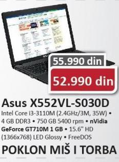 Laptop X552VL-S030D