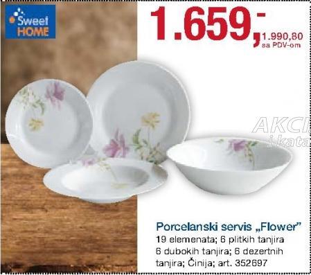 Porcelanski servis Flower Sweet Home