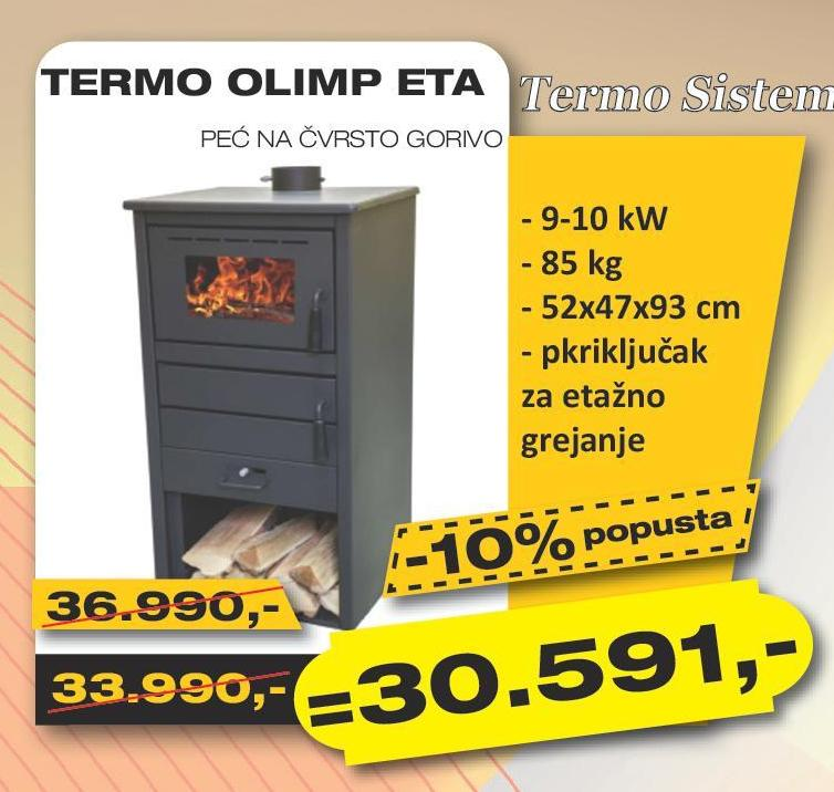Peć na čvrsto gorivo Termo olimp