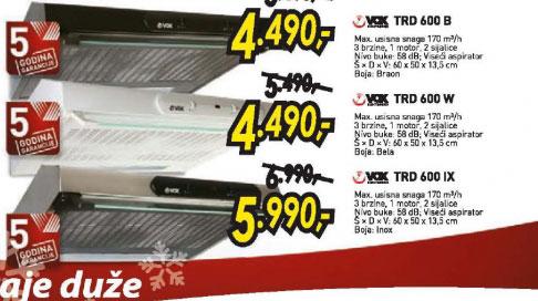 Aspirator TRD 600 W