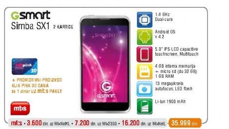 Mobilni telefon  GSmart Simba SX1
