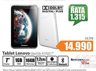 Tablet IdeaTab A1000 7''