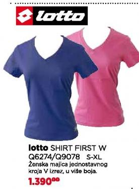 Majica Shirt First  W