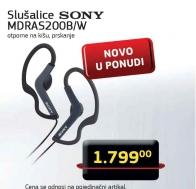 Slušalice MDRAS200B/W