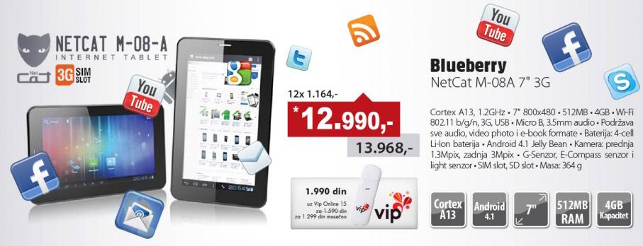 Tablet NetCat M-08-A