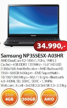 Notebook Series3 355 NP355E5X-A03HR