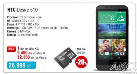 Mobilni telefon Desire 510