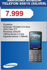 Telefon mobilni S5610 Silver