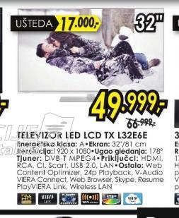 Televizor LCD TX-L32G20E