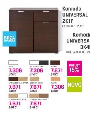 Komoda Universal 2K1F