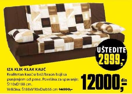 Kauč Iza Klik-klak