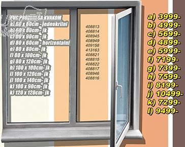 Prozor PVC sa kvakom 80x60 horizontalni