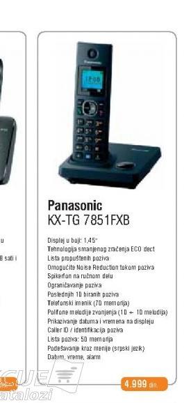 Fiksni Telefon KX-TG 7851FXB