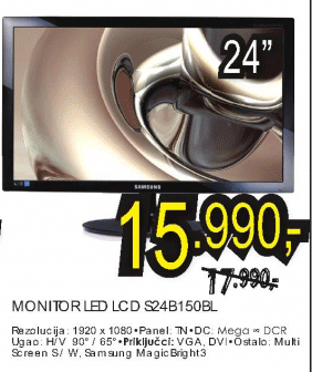 "24"" LED LCD monitor S24B150BL"