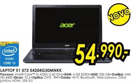 Laptop Aspire E1 572 54204g50mnk