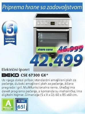 Električni šporet Cse 67300 Gx