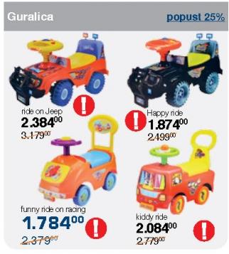 Guralica funny ride on racing