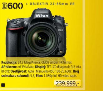 Digitalni fotoaparat D600 + 24-85mm
