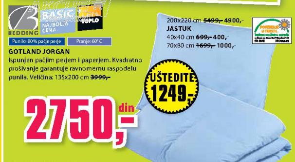 Jorgan Gotland 200x220 cm