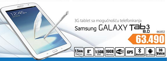 Tablet 3G Galaxy Tab 3 8.0''