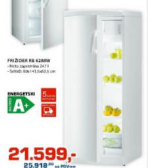 Frižider kombinovani RB6288W