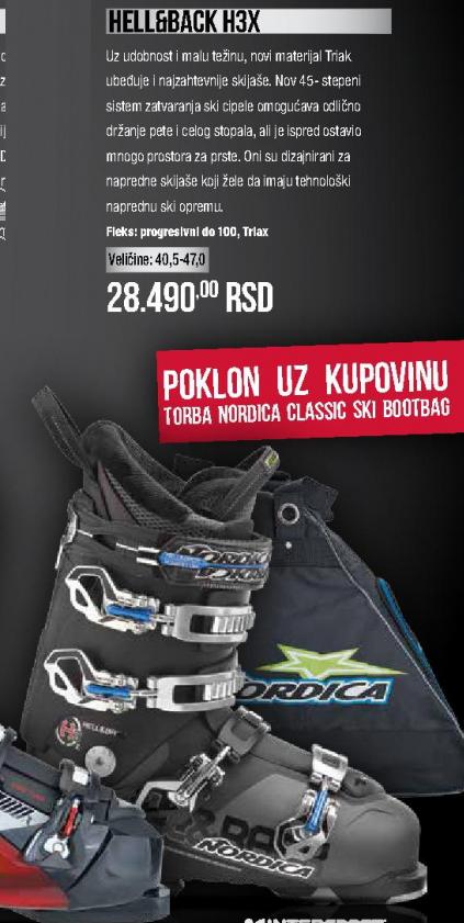 Skijaške cipele Hell&Back H3X, Nordica