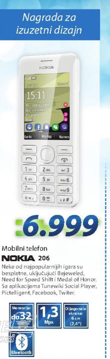 MOBILNI TELEFON GSM ASHA 206
