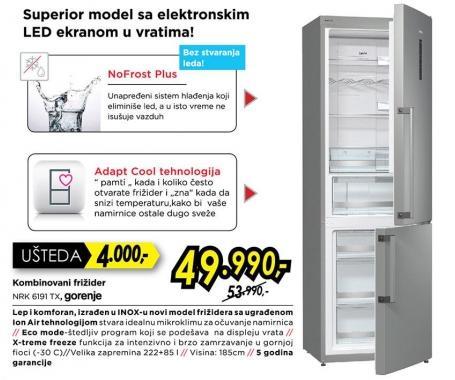 Kombinovani frižider Nrk 6191 Tx