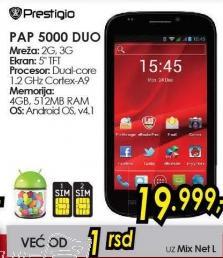 Mobilni telefon PAP 5000 Duo