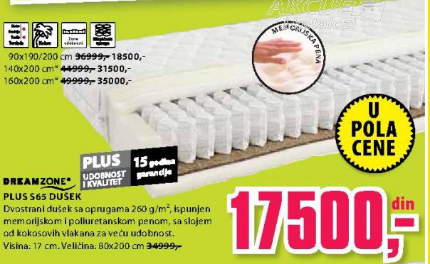 Dušek, Plus S65 160x200 cm