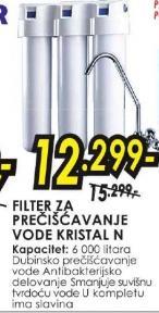 Filter za prečišćavanje vode Kristal n