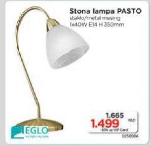 Stona lampa pasto