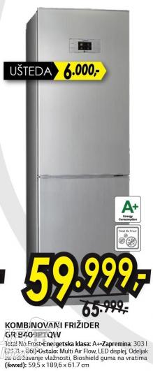 Frižider kombinovani GR-B409PTQW