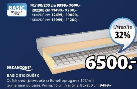 Dušek Basic S10 140x200cm
