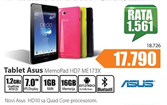 Tablet Memo Pad HD7  ME173X