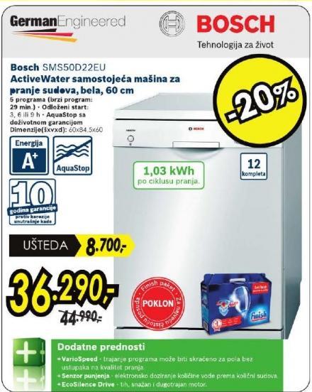 Mašina Za Pranje Sudova SMS 50D22EU