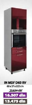 Kuhinjski element IN MDF D60 RV bordo sjaj