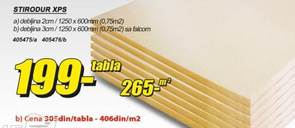 Stirodur XPS 3cm Falcovani