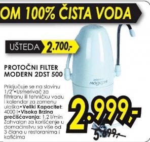 Protočni filter za prečišćavanje vode AKVAFOR MODERN 2