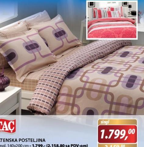 Satenska posteljina Singl
