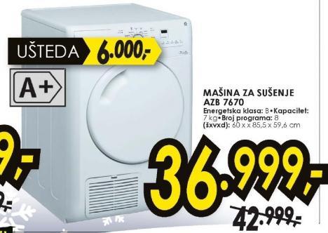 Mašina za sušenje veša  AZB7670