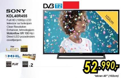 """Televizor LED 40"""" Kdl40r455"""