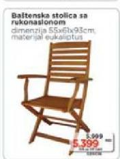 Baštenska stolica sa rukonaslonom