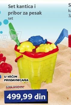 Igračka set kantica i pribor za pesak