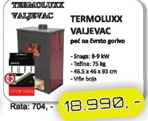 Peć na čvrsto gorivo Termoluxx Valjevac