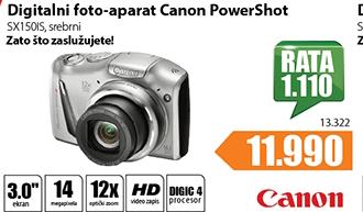 Digitalni fotoaparat PowerShot SX150IS
