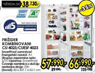 Kombinovani frižider Cuesf 4023