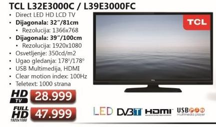 Televizor L39E3000FC