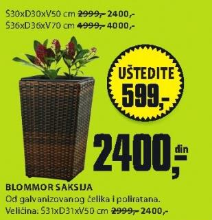 Saksija Blommor 36x36x70