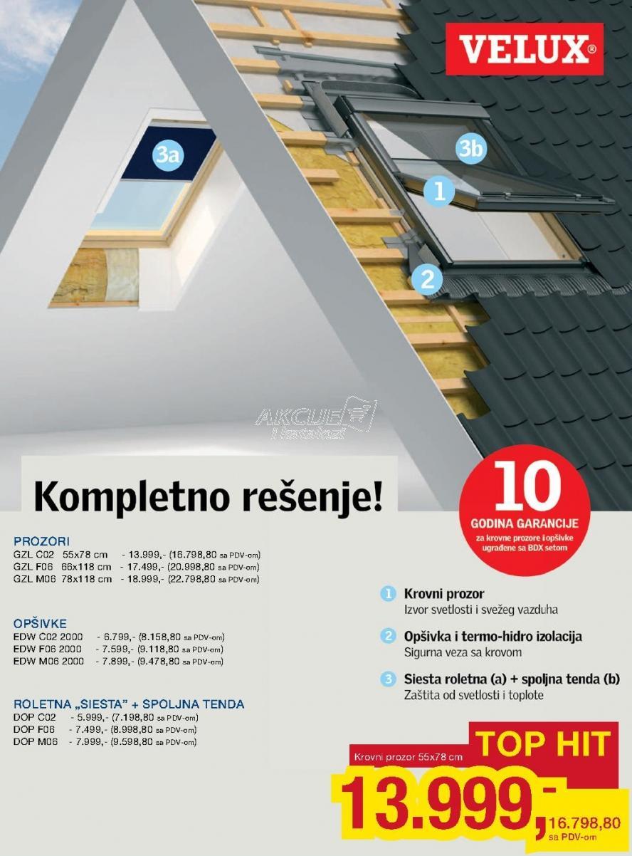 Roletna Siesta + Spoljna tenda Dcp C02 Velux